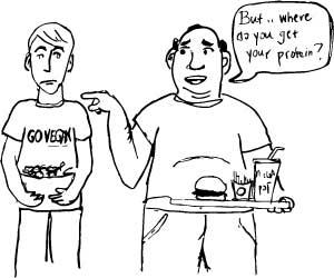 where do vegans get their protein
