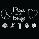 Vegan T Shirts Peace for all Beings