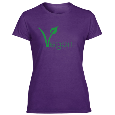 Purple vegan t shirt