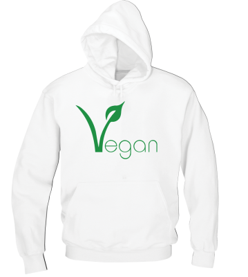 simple vegan design on hoodie