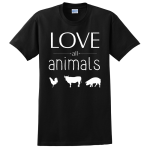 animal friendly t shirts