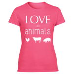 women's animal friendly t's