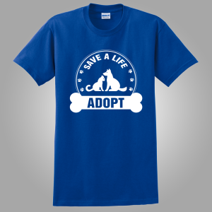 Adoption t shirt royal blue