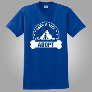 Adoption t shirt royal blue